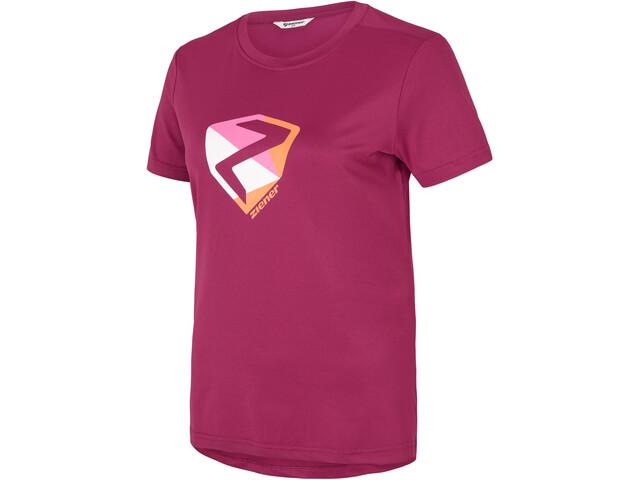 Ziener Nari T-Shirt Femme, cassis